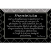 Prayer For My Son Glass Plaque