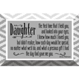 Daughter Glass Plaque