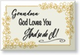Grandma, God Loves You, Glass Plaque