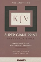 KJV Super Giant Print Reference Bible, Imitation leather, black, thumb indexed - Imperfectly Imprinted Bibles