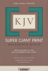 KJV Super Giant Print Reference Bible, flexisoft Turquoise, thumb indexed - Slightly Imperfect