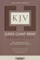 KJV Super Giant Print Reference Bible, flexisoft brown, thumb indexed - Imperfectly Imprinted Bibles