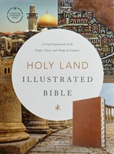 CSB Holy Land Illustrated  Bible--soft leather-look, British tan