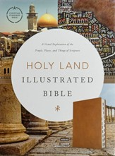 CSB Holy Land Illustrated  Bible--soft leather-look, ginger (indexed)