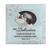 Baby Dedication, Psalm 139:14, Glass photo Frame