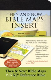 Then & Now Bible Maps Insert and KJV Bible Bundle