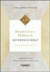 Hendrickson Hallmark Reference Bible, KJV, Large Print, Deluxe Hand Bound, Top Grain Goatskin Leather, Black - Slightly Imperfect