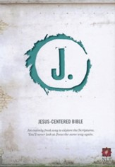 NLT Jesus Centered Bible, soft leather-look, turquoise  - Slightly Imperfect