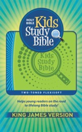 KJV Kids Study Bible Soft leather-look, blue/green