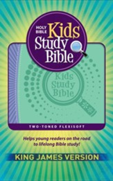 KJV Kids Study Bible, imitation leather purple/green