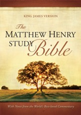 The Matthew Henry Study Bible, KJV - Bonded Leather, Black