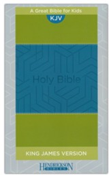 KJV Kids Bible, Flexisoft Blue/Green