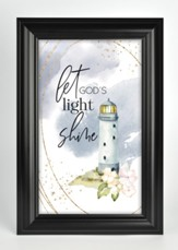 Let God's Light Shine Framed Plaque