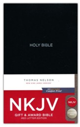 NKJV Gift and Award Bible, Black