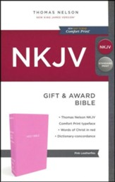 NKJV Gift and Award Bible, Pink