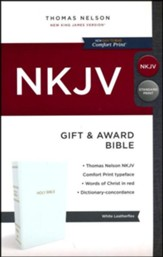 NKJV Gift and Award Bible, White
