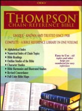 KJV Thompson Chain-Reference Bible, Blue Bonded Leather - Slightly Imperfect