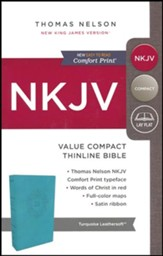 NKJV Value Compact Thinline Bible, Imitation Leather, Blue