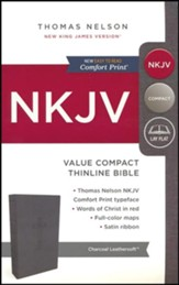 NKJV Value Compact Thinline Bible, Imitation Leather, Black