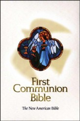 NAB First Communion Bible, Imitation leather, White, Thumb-Indexed  - Slightly Imperfect