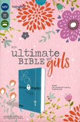 NIV Ultimate Bible for Girls--soft  leather-look, teal