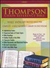 ESV Thompson Chain-Reference Bible, Burgundy Bonded Leather, Indexed