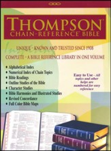 ESV Thompson Chain-Reference Bible, Black Genuine Leather