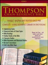 ESV Thompson Chain-Reference Bible, Black Genuine Leather, Indexed