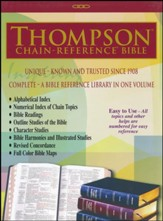 ESV Thompson Chain-Reference Bible, Burgundy Genuine Leather, Indexed