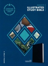 CSB Baker Illustrated Study Bible Navy, Diamond Design LeatherTouch