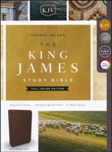 KJV Study Bible Full-Color Edition, Bonded Leather, Brown