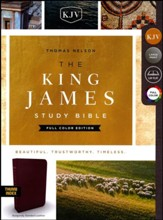 KJV Study Bible Full-Color Edition, Bonded Leather, Burgundy, Indexed