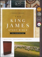 KJV Study Bible Full-Color Edition, Imitation Leather, Brown