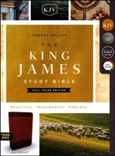 KJV Study Bible Full-Color Edition, Imitation Leather, Brown, Indexed