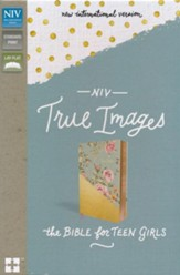 NIV, True Images Bible: The Bible for Teen Girls, Imitation Leather, Blue and Gold - Slightly Imperfect