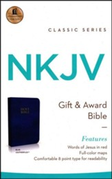 NKJV Gift and Award Bible, Imitation Leather Blue