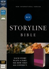 NIV, Storyline Bible, Leathersoft,  Pink, Indexed, Comfort Print