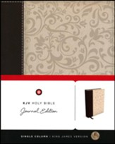KJV Holy Bible, Journal Edition, Bonded Leather, Brown - Slightly Imperfect