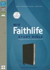 NIV Faithlife Study Bible: Intriguing Insights to Inform Your Faith--bonded leather, black