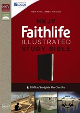 NKJV Faithlife Illustrated Study Bible--bonded leather, black