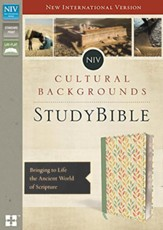 NIV Cultural Backgrounds Study Bible, Imitation Leather, Sage/Leaves Indexed - Slightly Imperfect