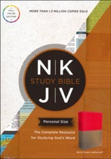 NKJV Study Bible, Personal Size, Imitation Leather, Berry/Taupe