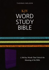 KJV Word Study Bible, Imitation Leather, Purple, Red Letter Edition