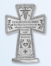 God Bless Nurses Standing Cross