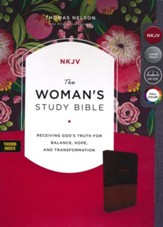 The NKJV Woman's Study Bible, Imitation Leather Brown/Burgundy, Full-Color, Indexed