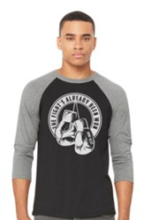 Fight 3/4 Raglan Shirt, 2X-Large