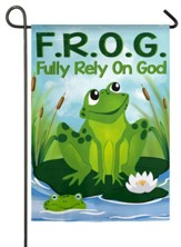 F.R.O.G., Fully Rely on God Suede Flag, Small