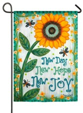 New Day New Hope New Joy Suede Flag, Small