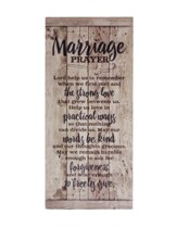 Marriage Prayer Wood Plaque