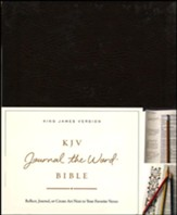 KJV Journal the Word Bible, Bonded Leather, Brown, Red Letter Edition - Imperfectly Imprinted Bibles